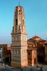 Zaragoza. Utebo. Iglesia de Nuestra Señora de la Asunción. Torre mudéjar.
