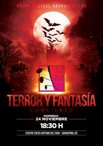 Cartel Concierto Terror y Fantasia 2013 UMG A3